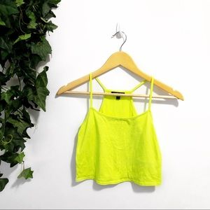 3/$25 🌵 TopShop Neon Crop Top